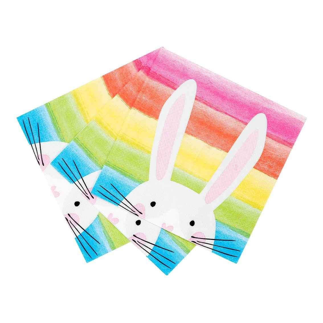 Guardanapos Hop Over The Rainbow Bunny,pk/20