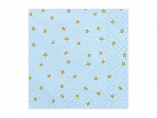 Guardanapos Azuis Estrelas,33*33,pk/20