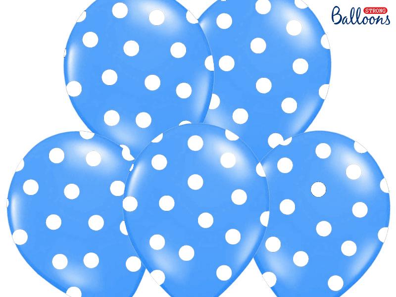 Balões 30cm, Dots, Pastel Cornflower Blue,pk/6
