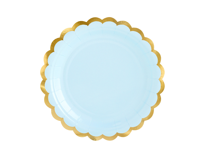 Pratos Light Blue Gold,pk/6