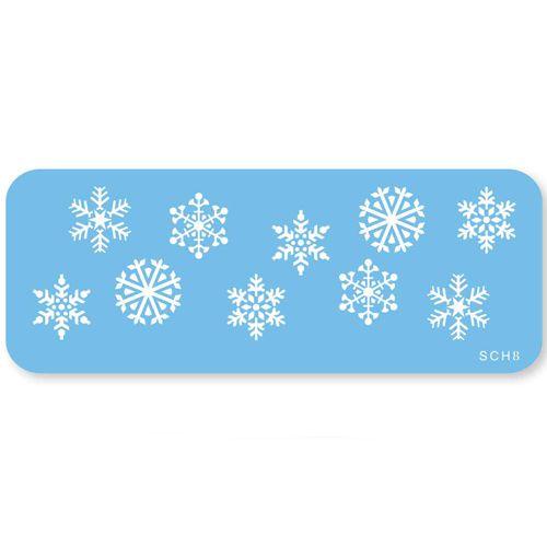 Stencil Flocos de Neve