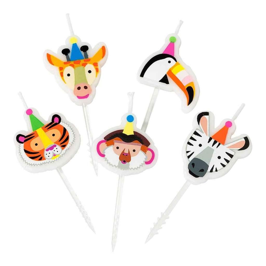 Velas Party Animals,pk/5