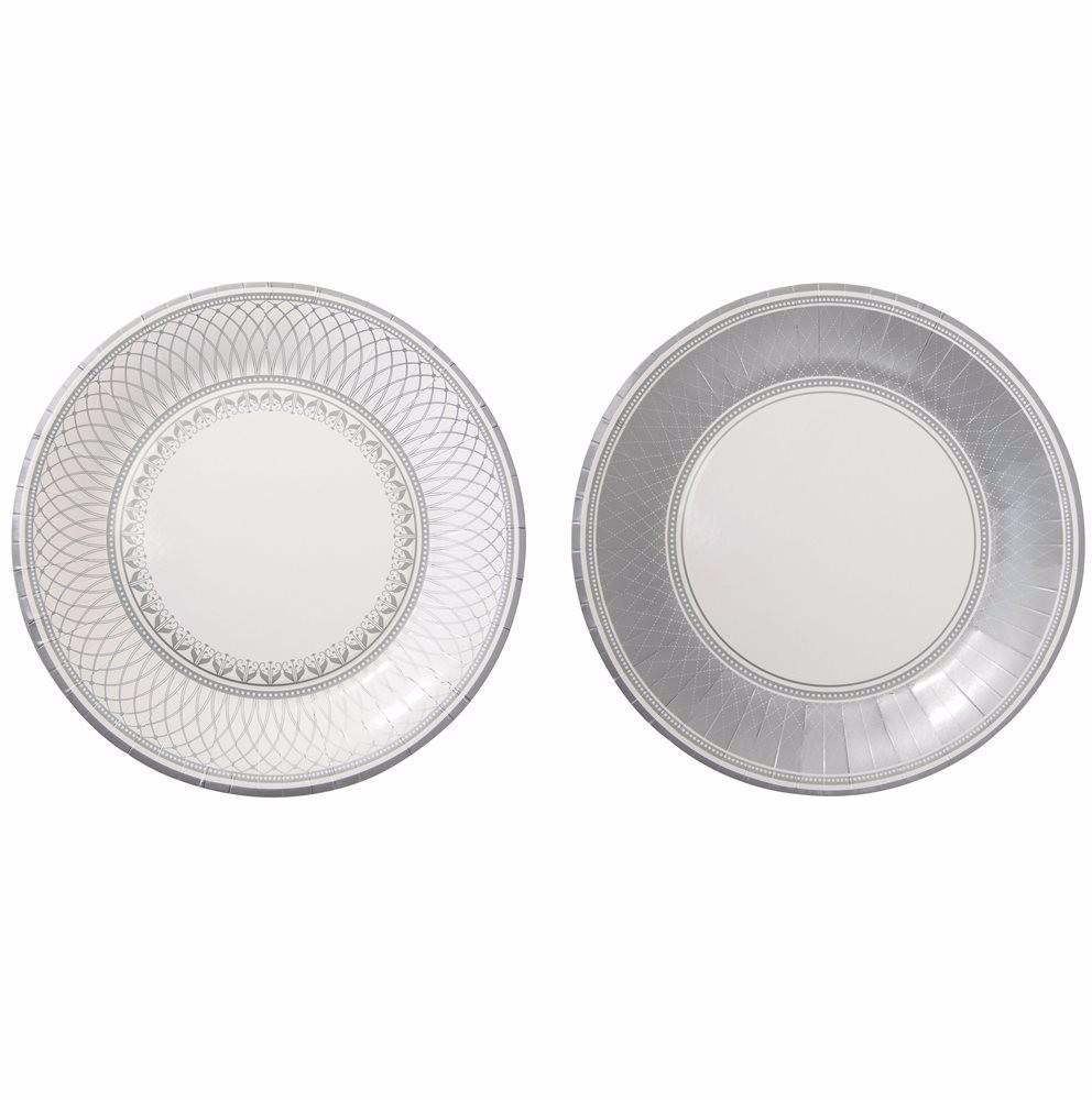 Pratos Party Porcelain Silver