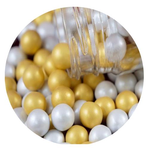 Perolas Chocolate Prata/Ouro 65gr