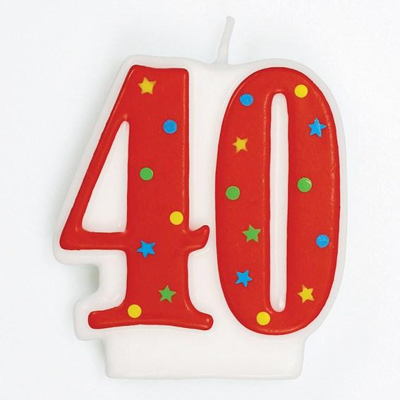 Vela Nº40 Vermelha Colorida