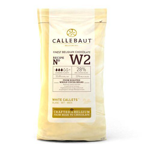 Pastilhas de Chocolate Branco Callebaut 1kg