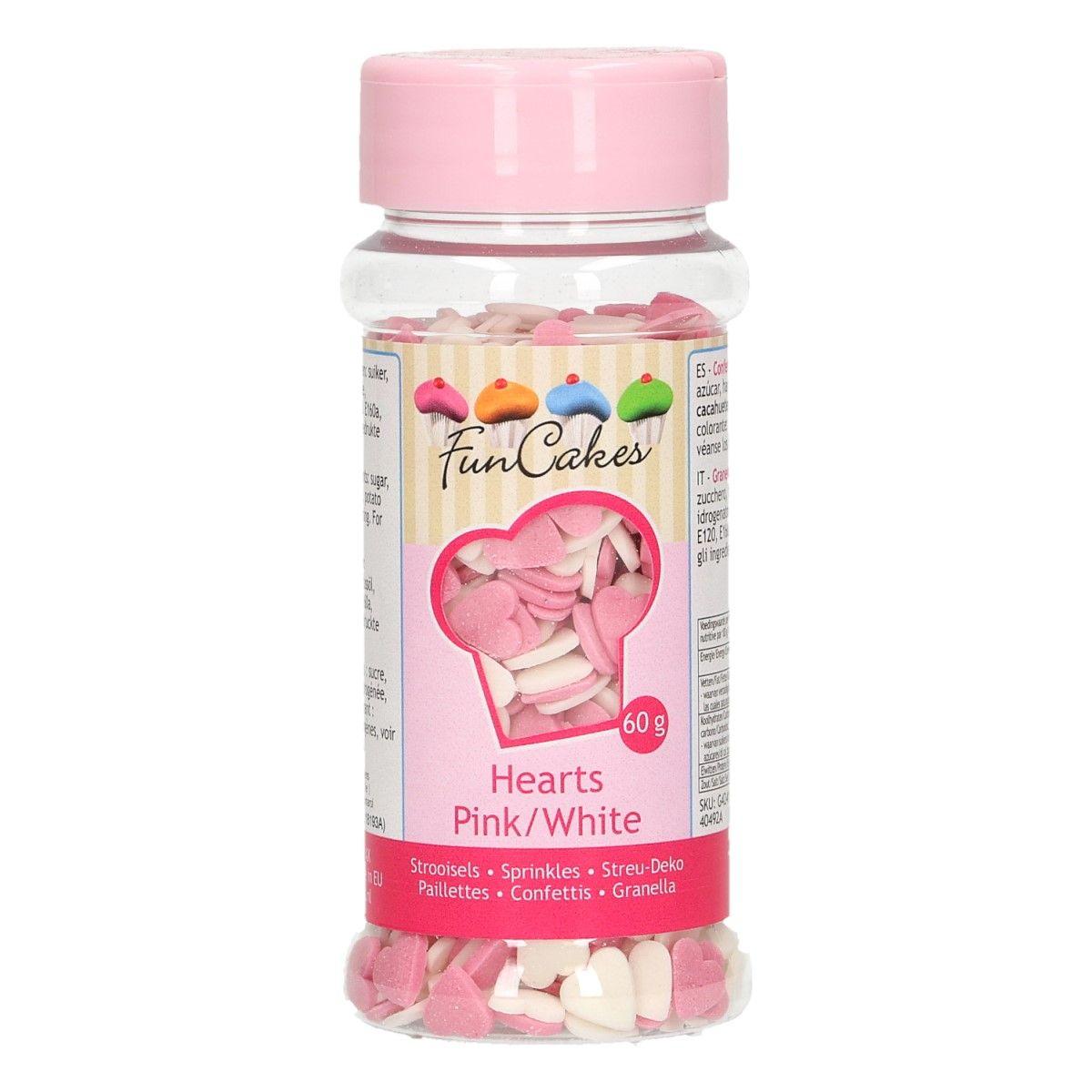 Sprinkles Corações Pink-Branco 60g