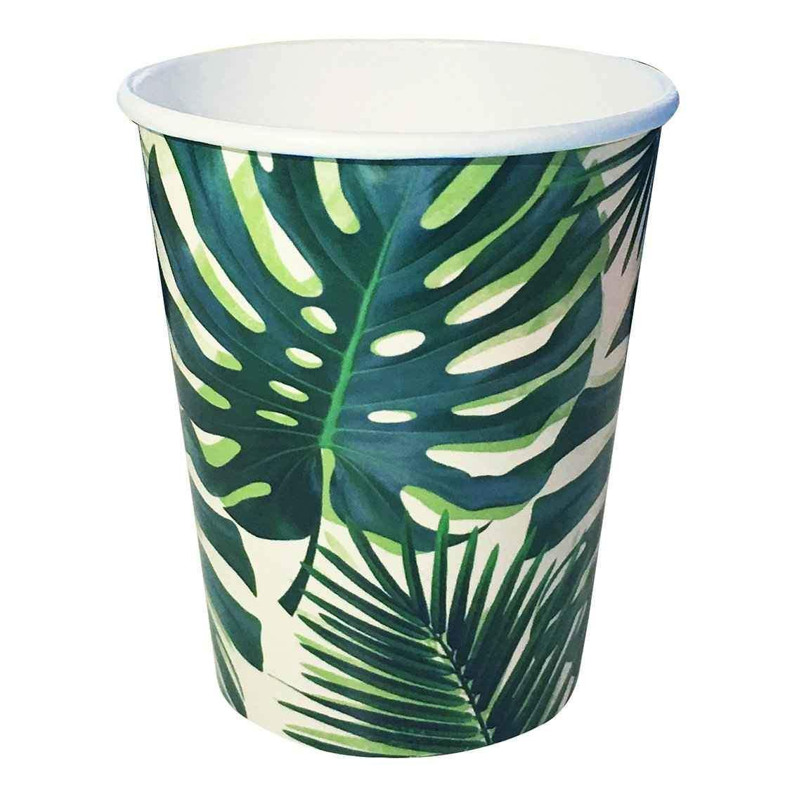 Copos Tropical Fiesta Palm Leaf,pk/8