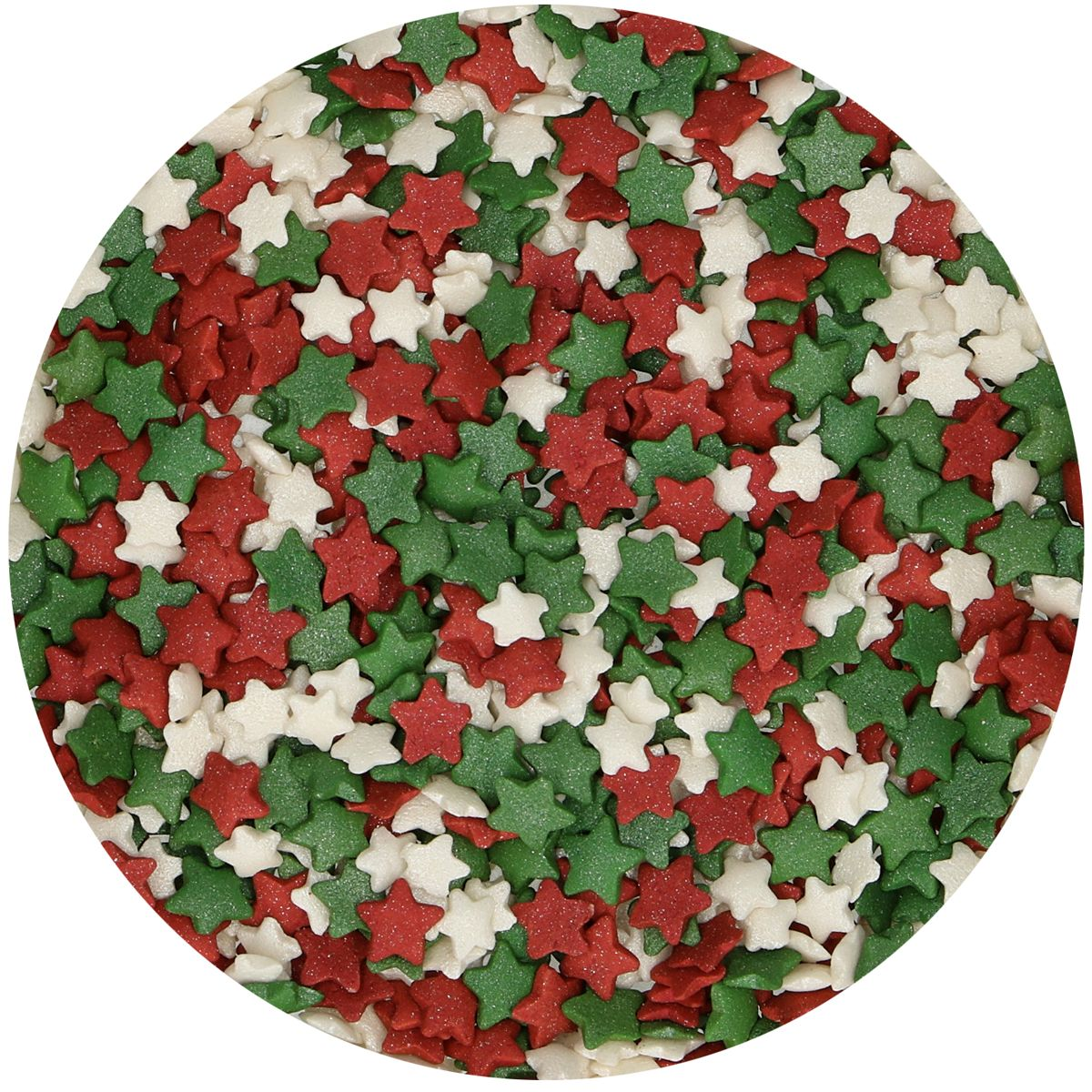 Sprinkles Red-Green-White Stars, 60gr