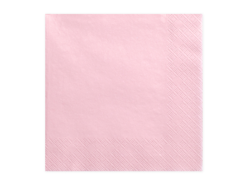 Guardanapos Ligth Pink 33x33