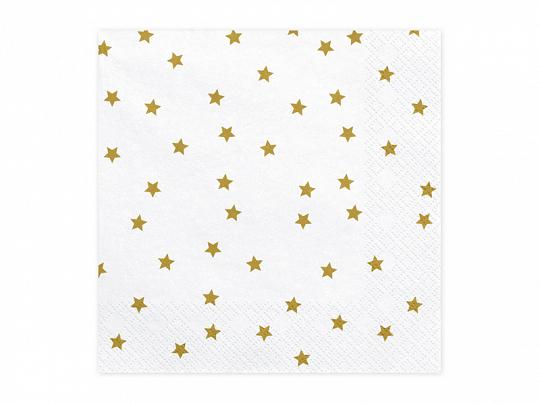 Guardanapos Estrelas Gold,pk/20