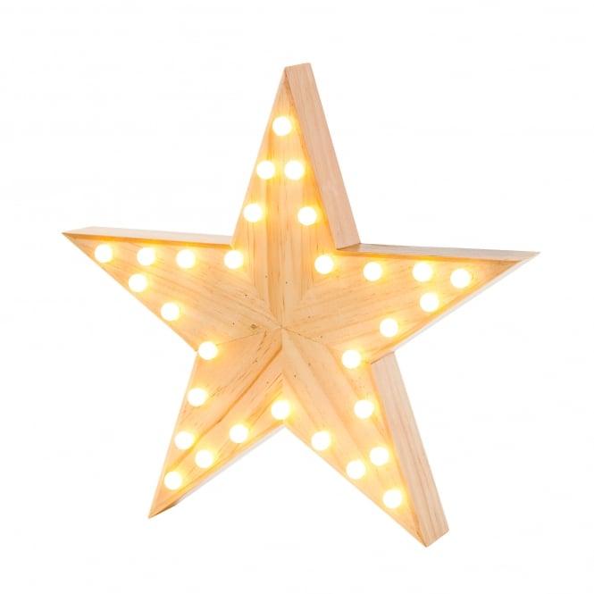 Iluminação Wooden Star Light