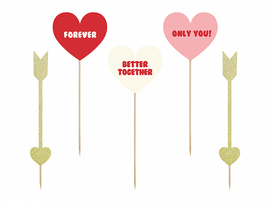 Toppers Sweet Love Hearts Arrows