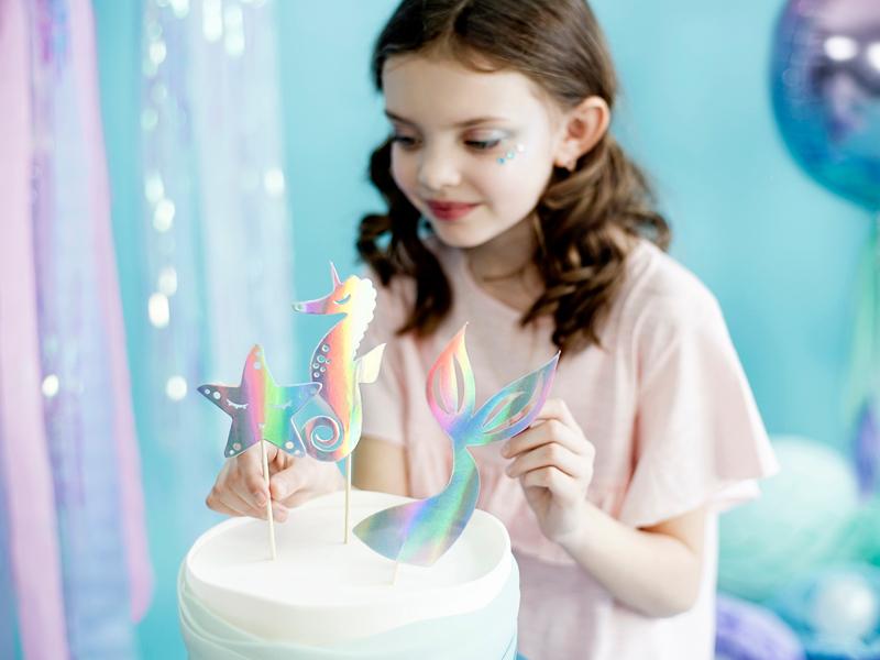 Cake Toppers Mermaid, pk/3
