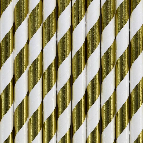 Palinhas Papel Riscas Douradas,pk/10