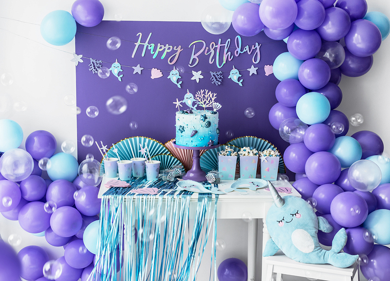 Banner Happy Birthday, Irrediscente 16.5x62cm