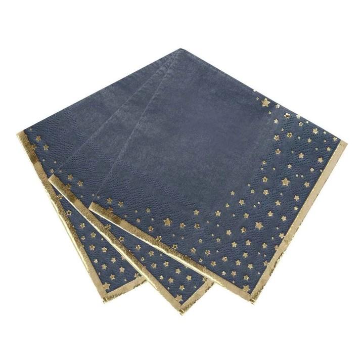 Guardanapos Azul Star Gold