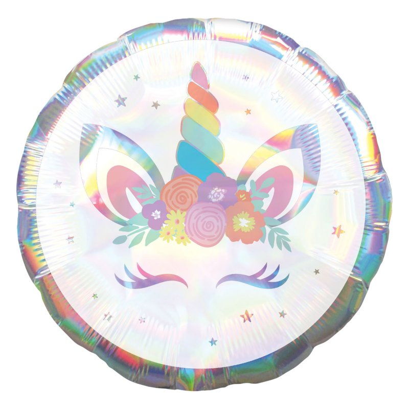 Balão Unicorn Party Iridescent Standard