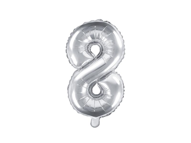 Balão 35cm 8 - Prateado