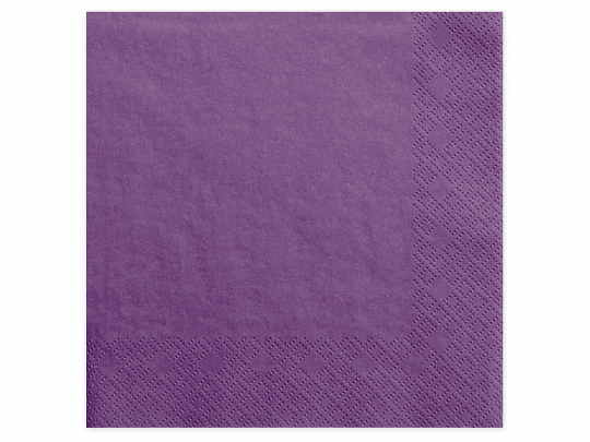 Guardanapos Purple, 40x40cm,pk/20