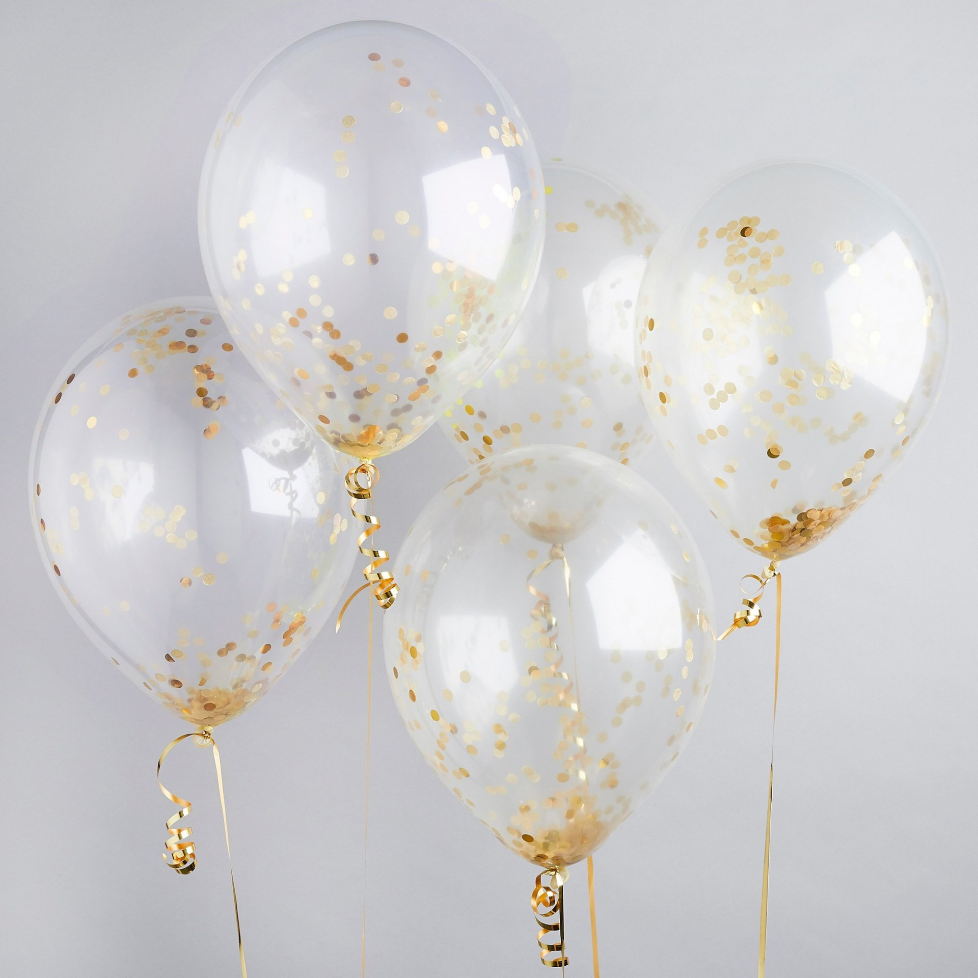 Balões Confetti - Gold,pk/5