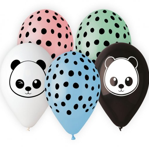 Balões Latex Panda,pk/5