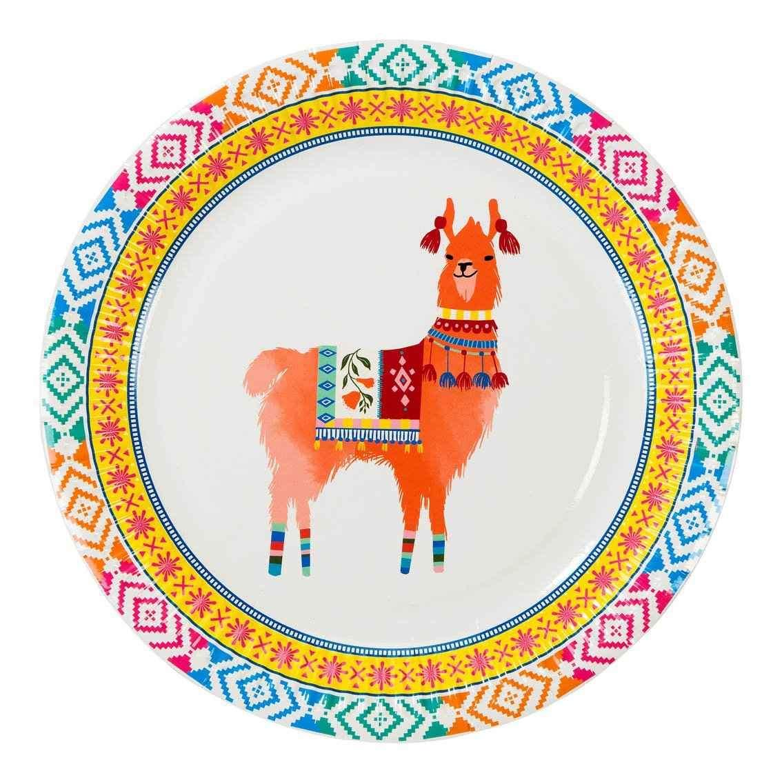 Pratos Boho Mix Llama,pk/12