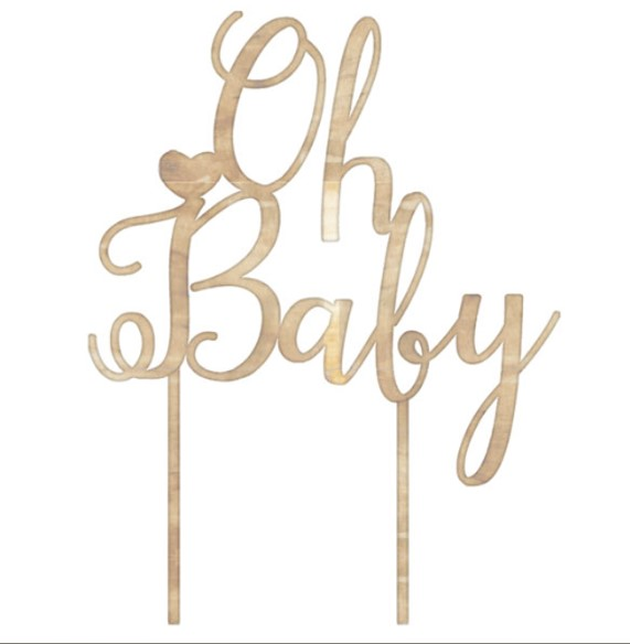 Cake Topper Madeira Oh Baby !