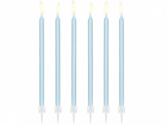 Velas Lisas Azul Claro 14cm, pk/12