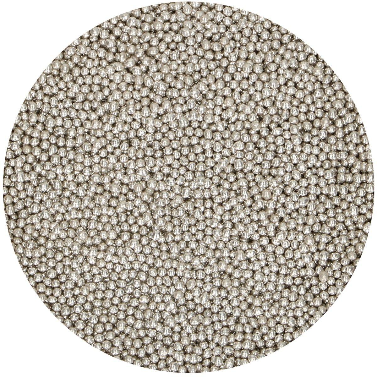 Perolas - Prateadas 2mm 80gr