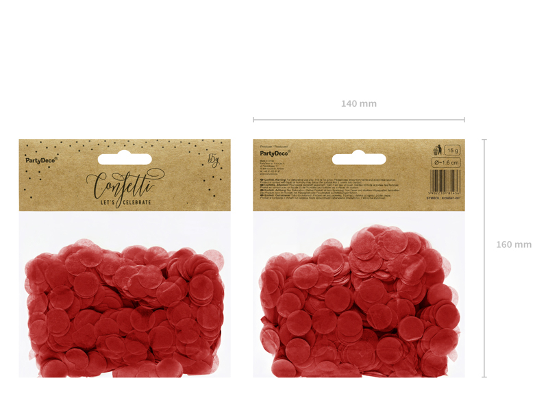 Confettis Circulos Vermelho,15gr