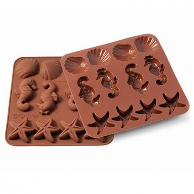 Molde Silicone Chocolates Sealife