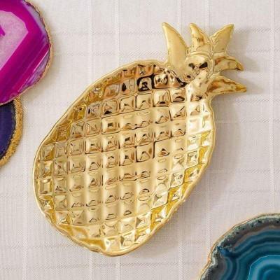 Prato Ananas Dourado Peq
