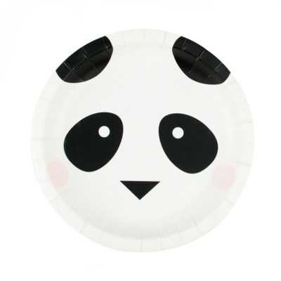 Pratos Mini Panda,pk/8