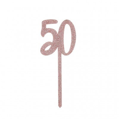 Topo Bolo Acrilico 50 - Rose Gold