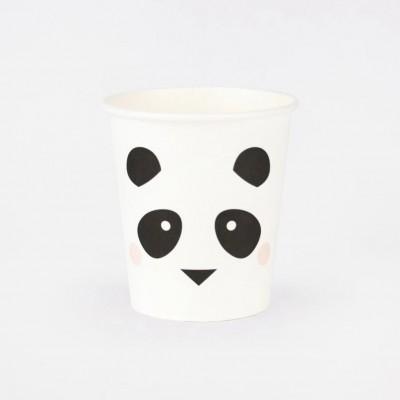 Copos Mini Panda,pk/8
