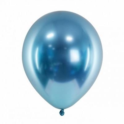 Balão Cromado 27cm -  Azul