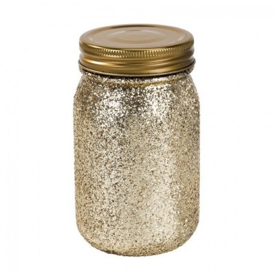 Jarro Be Happy Gold Glitter