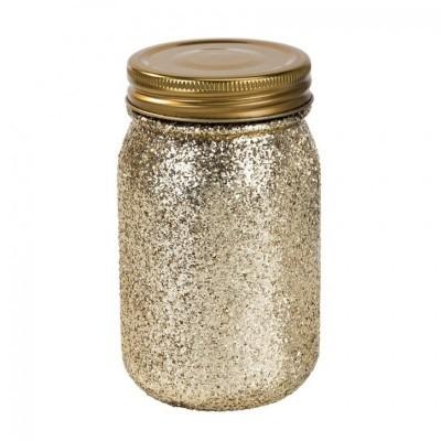 Jarro Be Happy Gold Glitter
