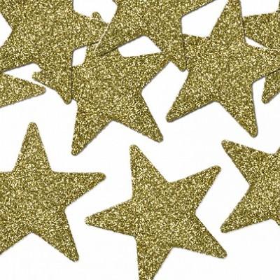 Confettis Estrelas Douradas Brilantes 5cm