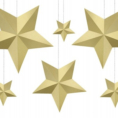 Decorações Estrelas Douradas,pk/6