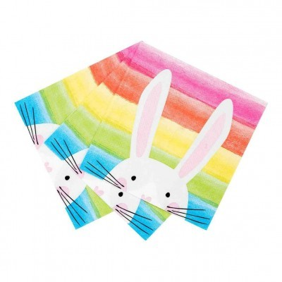Guardanapos Hop Over The Rainbow Bunny,pk/20