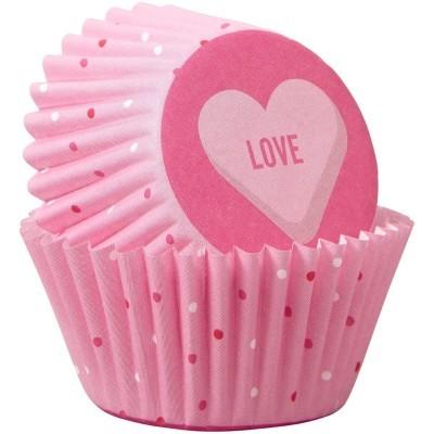 Formas Mini Cupcake LOVE,pk/100