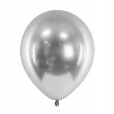 Balão Cromado 27cm - Prateado