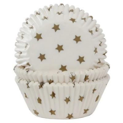Formas cupcakes Estrelas Douradas, pk/50