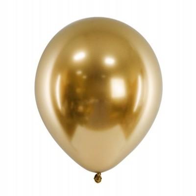 Balão Cromado 27cm -  Dourado