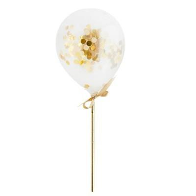 Kit Mini Balões Confetti - Gold pk/5