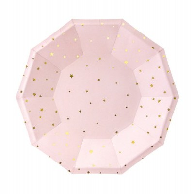 Pratos Stars Light Rose, pk/6