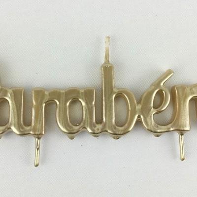 Velas Parabéns - Dourado