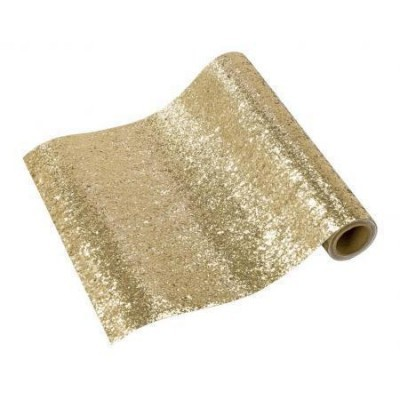 Table Run Luxe Gold Glitter
